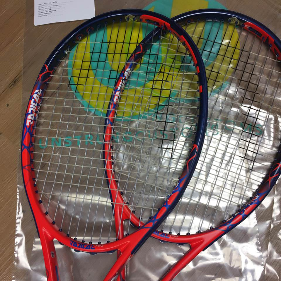 Andy Murray(アンディ・マリー)のガットセッティング | Tennis-Goods.com